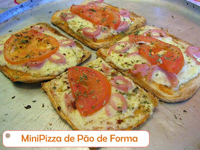 MiniPizza de Pão de Forma