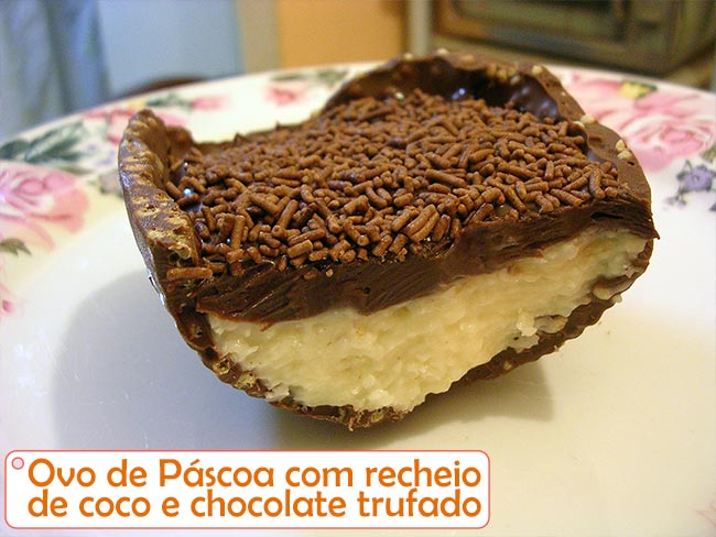 Muito Weblaranja :-) : Receitas :Ovo de Páscoa recheado de coco e  JM04