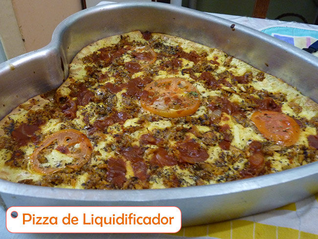 Pizza de liquidificaor